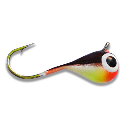 (LARGE HOOK SERIES) WHITE CHARTREUSE SMOKE GLOW TUNGSTEN JIG - Kenders Outdoors
