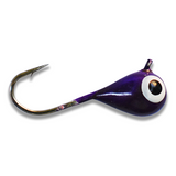 (LARGE HOOK SERIES) PURPLE GLOW TUNGSTEN JIG - Kenders Outdoors
