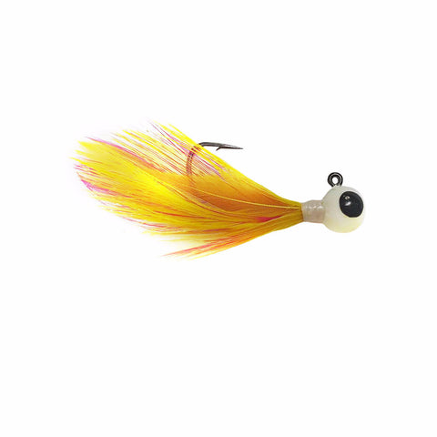 PINK/YELLOW TUNGSTEN FEATHER JIG - Kenders Outdoors