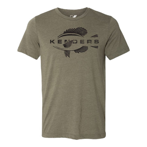 KENDERS GRAPHIC T-SHIRT OLIVE GREEN/BLACK - Kenders Outdoors