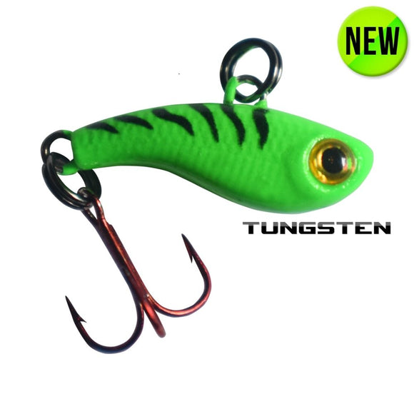 TUNGSTEN T-RIP GREEN TIGER GLOW MINI VIBE BAIT