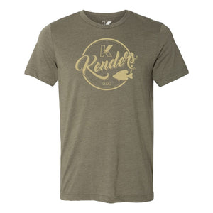 KENDERS VINTAGE GRAPHIC T-SHIRT OLIVE GREEN/TAN - Kenders Outdoors