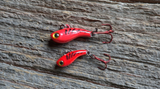 TUNGSTEN T-RIP RED TIGER GLOW MINI VIBE BAIT