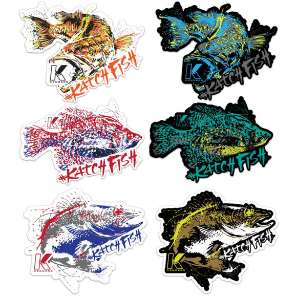 KENDERS ALL SPECIES DECALS 6-PACK - Kenders Outdoors