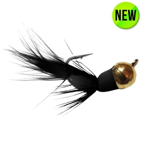 BLACK/GOLD TUNGSTEN AKUA JIG FLARE - Kenders Outdoors