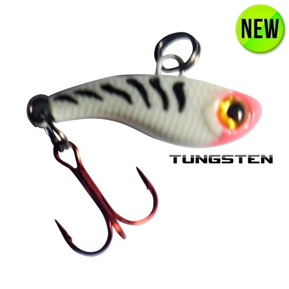 TUNGSTEN T-RIP WHITE TIGER GLOW MINI VIBE BAIT