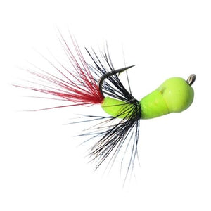 CHARTREUSE/RED TUNGSTEN AKUA JIG FLARE - Kenders Outdoors