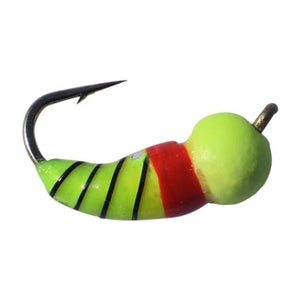 CHARTREUSE RED TUNGSTEN AKUA JIG SKUD - Kenders Outdoors