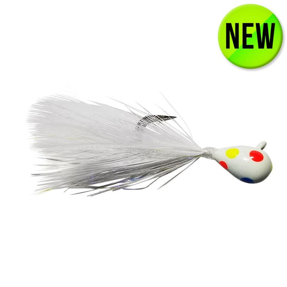 TUNGSTEN WONDER FEATHER JIG - GLOW WONDERBREAD/WHITE FEATHER