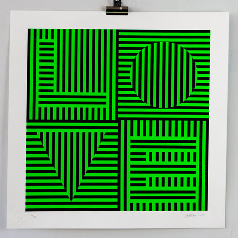 Carl Cashman - Op Art Screenprint Love Hurts