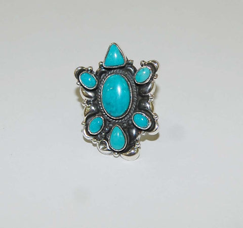 Estrella Azul | Sterling Silver Ring With Turquoise - Native Marvels