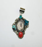 Ancient Ones Rocca | Sterling Silver Pendant With Spiny Oyster, Turquoise & Artifact - Native Marvels
