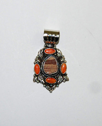 Ancient Ones Sunset | Sterling Silver Pendant With Spiny Oyster - Native Marvels