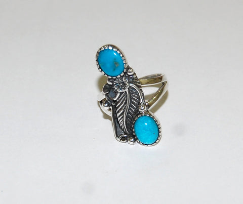 Balanced Nature | Sterling Silver Ring With Turquoise - Native Marvels