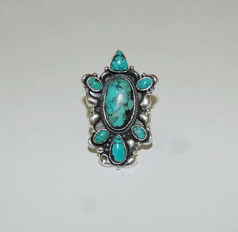 Estrella Trullo | Sterling Silver Ring with Turquoise - Native Marvels