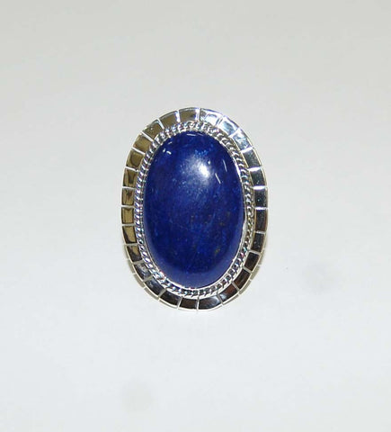 Eye Of Poseidon | Sterling Silver Ring with Lapis - Native Marvels