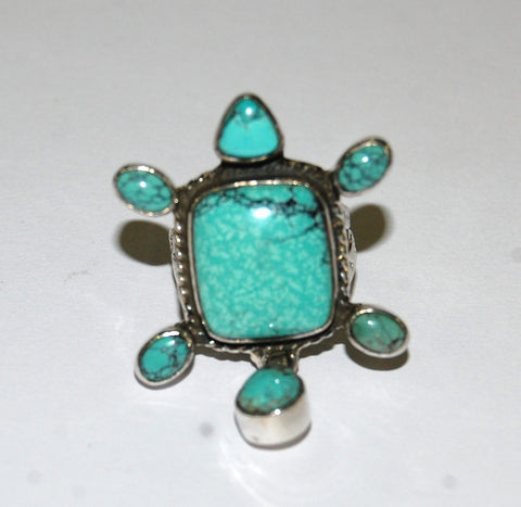 Danza Verde | Sterling Silver Ring With Turquoise - Native Marvels