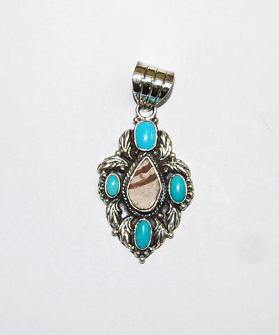 Ancient Ones Natura | Sterling Silver Pendant With Turquoise & Artifacts - Native Marvels