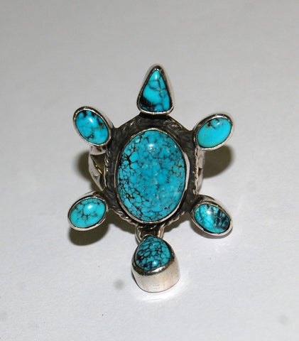 Danza Trullo | Sterling Silver Ring With Turquoise - Native Marvels