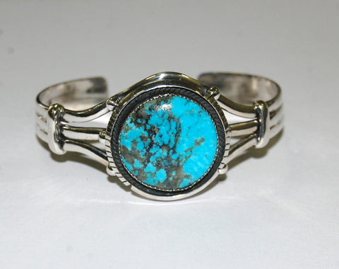 Banded Reef | Sterling Silver Cuff With Turquoise - Native Marvels