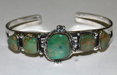 Collar Greed | Sterling Silver Cuff With Turquoise - Native Marvels
