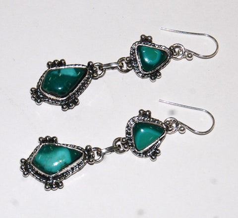 Nautical Winds Mountain | Sterling Silver Earrings With Turquoise - Native Marvels
