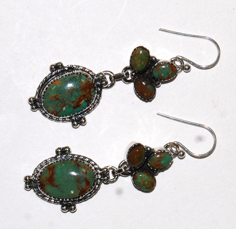 Victorian Dark Moon | Sterling Silver Earrings With Turquoise - Native Marvels