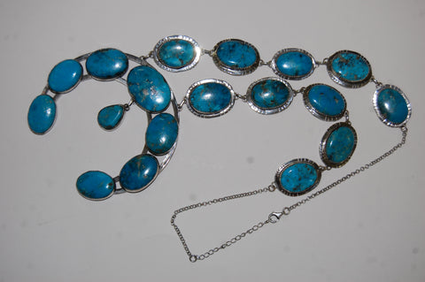 Lucky Gal | Sterling Silver Necklace With Turquoise - Native Marvels