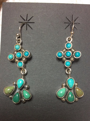 American Woman | Sterling Silver Earrings With Turquoise - Native Marvels