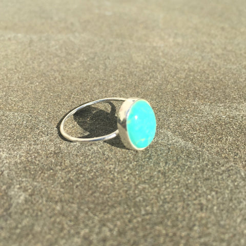 Esna | Sterling Silver & Turquoise Ring - Native Marvels