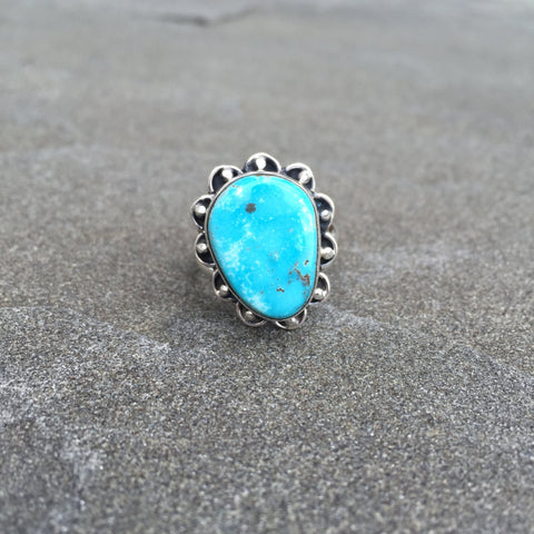 Bright Star | Sterling Silver Ring With Turquoise - Native Marvels