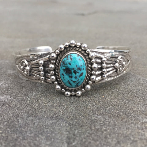 Bandita | Sterling Silver Cuff Bracelet With Turquoise - Native Marvels