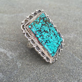 Astoria | Sterling Silver Ring With Turquoise - Native Marvels