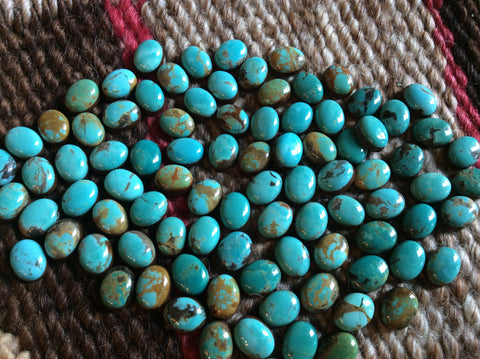 Tyrone Turquoise Oval 7x9mm - Native Marvels