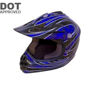 DOT Blue Kids MX ATV Helmet MXCBL - Proven Power Sports
