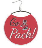 NCSU Tailgating Earrings