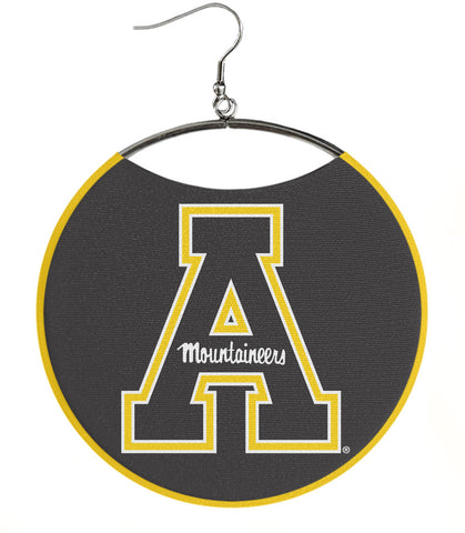 "Appalachian State University Earrings, Black ""A"" Logo"
