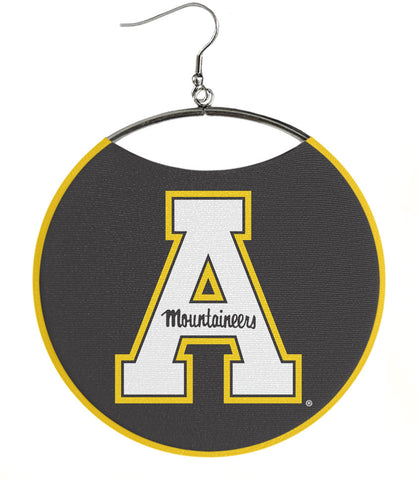 "Appalachian State University Logo Earrings, White ""A"""