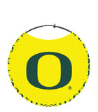 "University of Oregon Earrings, Oregon Ducks Yellow & Green ""O"" Pattern"