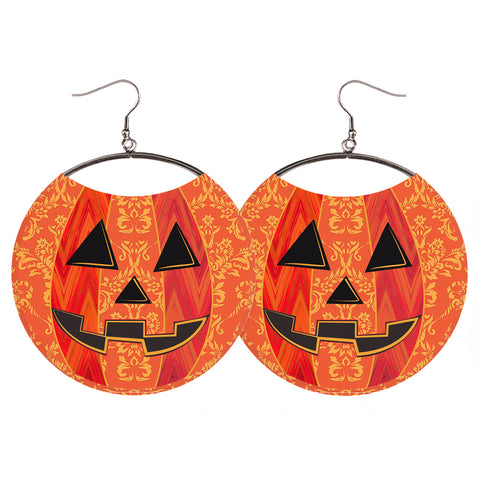 Halloween Earrings - Jack O Lantern Lightweight Dangle Earrings