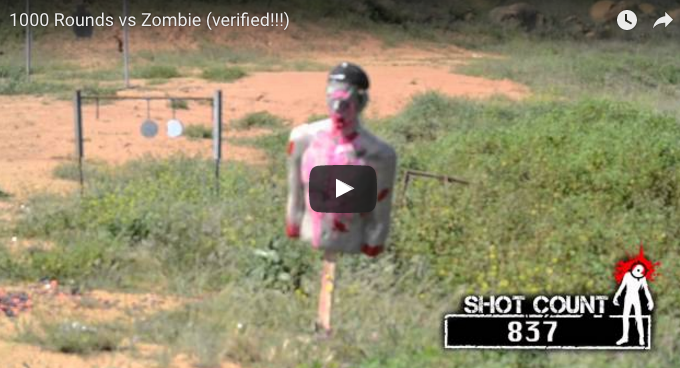 1000 Rounds vs. Zombie Target