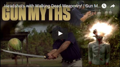 Headshots with Walking Dead Weaponry! | Gun Myths with pro shooter Jerry Miculek