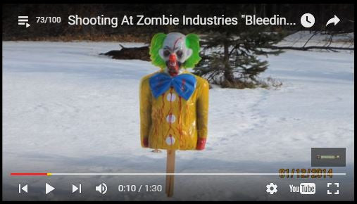 Shooting at Zombie Industries Bleeding Zombie Target