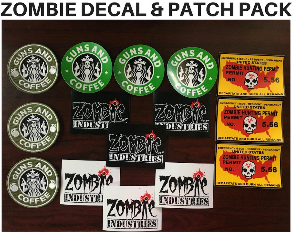 ZOMBIE DECAL & PATCH PAK