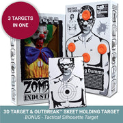Zombie Industries Bleeding Targets - 3D Interactive Shooting Targets #style_bobo-the-deranged