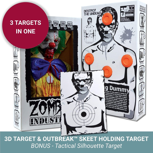 Zombie Industries Bleeding Targets - 3D Interactive Shooting Targets