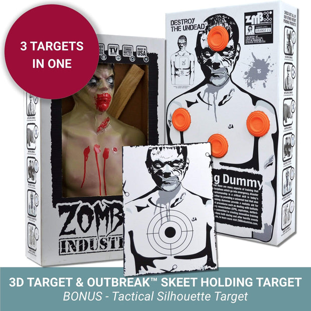 Zombie Industries Reactive Targets - 3D Reactive Shooting Target