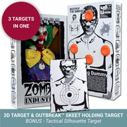 Zombie Industries Reactive Targets - 3D Reactive Shooting Target #style_wiggles-the-wicked
