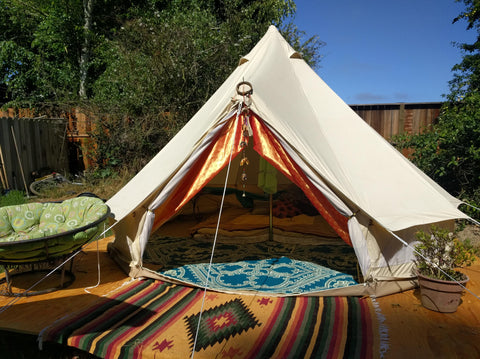 Bell Tent & The Bohemian Glamping Tent and How to Set up Your Own! u2013 www ...