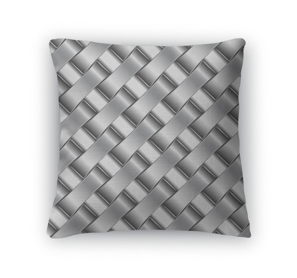 Throw Pillow, Silver Pattern